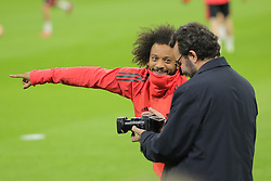 February 12, 2019 - Amsterdam, Netherlands - Real Madrid CF Defender Marcelo pictured during a training before UEFA Champions League match playoff 1/8 finals game between Ajax Amsterdam and Real Madrid at Johan Cruyff Arena on February 12, 2019 in Amsterdam, Netherlands. (Credit Image: © Federico Guerra Moran/NurPhoto via ZUMA Press)