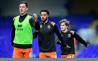 Blackpool's Joe Nuttall, centre, during the pre-match warm-up<br /> <br /> Photographer Chris Vaughan/CameraSport<br /> <br /> The EFL Sky Bet League One - Ipswich Town v Blackpool - Saturday 23rd November 2019 - Portman Road - Ipswich<br /> <br /> World Copyright © 2019 CameraSport. All rights reserved. 43 Linden Ave. Countesthorpe. Leicester. England. LE8 5PG - Tel: +44 (0) 116 277 4147 - admin@camerasport.com - www.camerasport.com