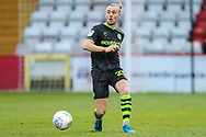 Forest Green Rovers Joseph Mills(23) passes the ball forward during the EFL Sky Bet League 2 match between Stevenage and Forest Green Rovers at the Lamex Stadium, Stevenage, England on 26 December 2019.