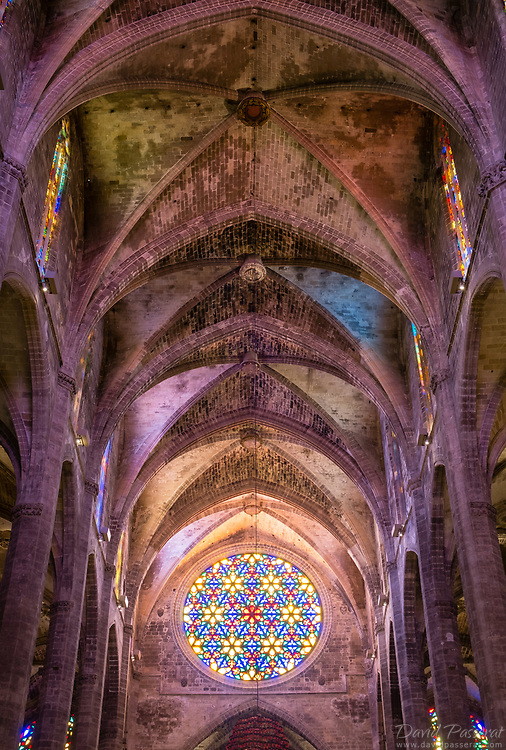 The cathedral construction began in 1229 to finish in 1601, and the hight of its roof is of of the largest in Europe: 44m.