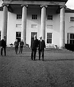 General Charles de Gaulle with President Eamon De Valera at Áras an Uachtarain..17.06.1969
