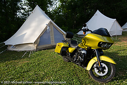 Glamping area at the Tennessee Motorcycles and Music Revival at Loretta Lynn's Ranch. Hurricane Mills, TN, USA. Friday, May 21, 2021. Photography ©2021 Michael Lichter.