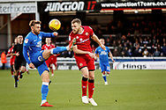Peterborough United forward Matt Godden (9) on the edge of the box during the EFL Sky Bet League 1 match between Peterborough United and Walsall at London Road, Peterborough, England on 22 December 2018.
