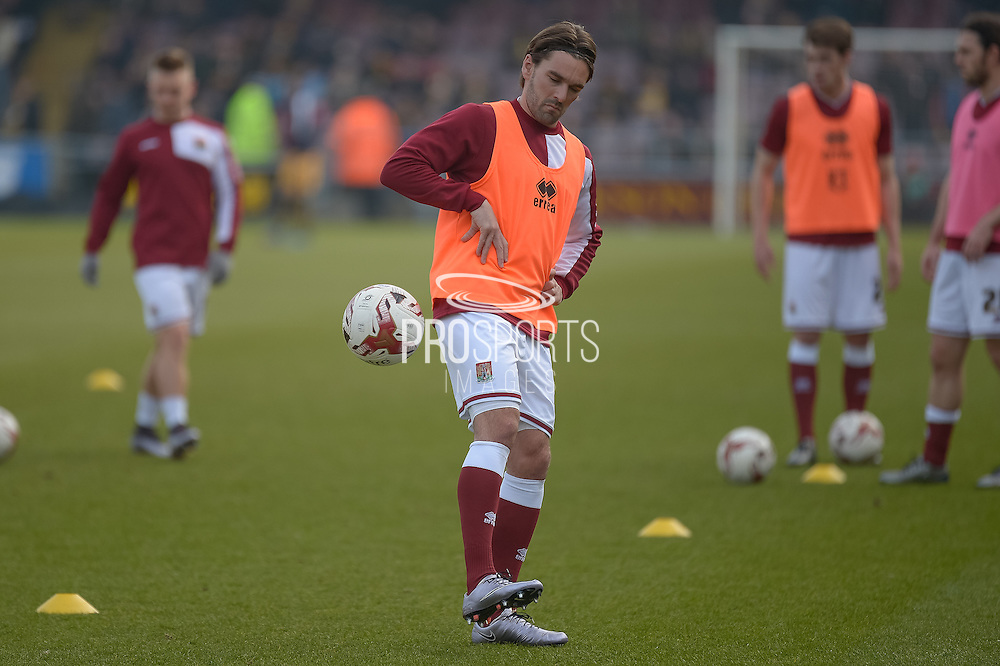 Northampton Town Striker Ricky Holmes  during the Sky Bet League 2 match between Northampton Town and Cambridge United at Sixfields Stadium, Northampton, England on 12 March 2016. Photo by Dennis Goodwin.