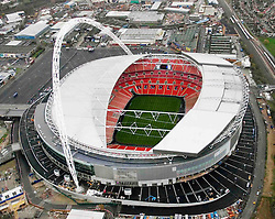 Image ©Licensed to i-Images Picture Agency. Aerial views. United Kingdom.<br /> Wembley Stadium. Picture by i-Images