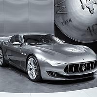 """Maserati Alfieri Reflections"" Mono<br /> <br /> A beautiful monochrome image of the Maserati Alfieri!"