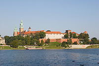 Wawel Cathedral on the Vistula River in Krakow Poland