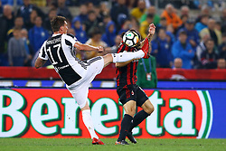 May 9, 2018 - Rome, Italy - Mario Mandzukic of Juventus and Ricardo Rodriguez of Milan  during the TIM Cup Final between Juventus and AC Milan at Stadio Olimpico on May 9, 2018 in Rome, Italy. (Credit Image: © Matteo Ciambelli/NurPhoto via ZUMA Press)