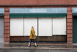 Glasgow, Scotland, UK.1 December 2020. Glasgow remains under level 4 lockdown and non essential businesses, bars and restaurants are closed. Pictured;  Gandolfi Fish restaurant is closed.  Iain Masterton/Alamy Live News