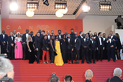 """Les Miserables"" Red Carpet - The 72nd Annual Cannes Film Festival in Cannes, France, on May 15, 2019. 15 May 2019 Pictured: Ladj Ly, Actors Damien Bonnard, Alexis Manenti, Djebril Didier Zonga and other members of the cast of ""Les Miserables"" attend the screening of ""Les Miserables"" during the 72nd annual Cannes Film Festival in Cannes, France, on May 15, 2019. Photo credit: Favier/ELIOTPRESS / MEGA TheMegaAgency.com +1 888 505 6342"