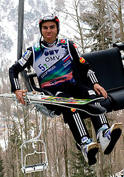 Jernej Damjan of Slovenia during Flying Hill Team Trial Round at 4th day of FIS Ski Flying World Championships Planica 2010, on March 21, 2010, Planica, Slovenia.  (Photo by Vid Ponikvar / Sportida)