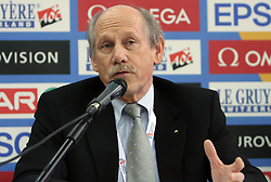 Hansjorg Wirz, president of European Athletics at press conference day before European Athletics Indoor Championships Torino 2009 (6th - 8th March), at Oval Lingotto Stadium,  Torino, Italy, on March 5, 2009. (Photo by Vid Ponikvar / Sportida)