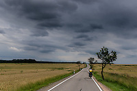 Cyclist in south Germany