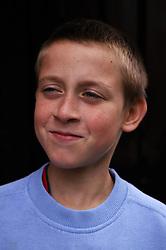 Portrait of boy smiling,