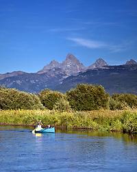 Canoeing the Teton River in Driggs Idaho