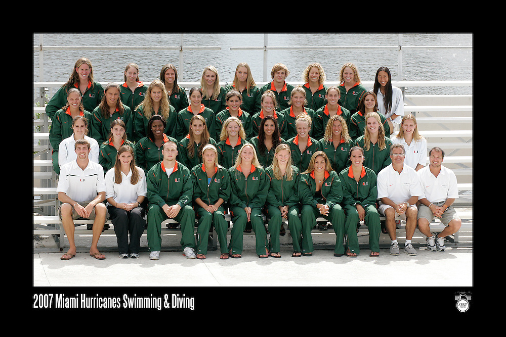 2007 Miami Hurricanes Swimming & Diving Team Photo