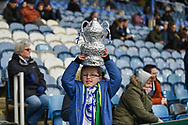 Young Portsmouth support with FA CUP tin foil during the The FA Cup fourth round match between Portsmouth and Queens Park Rangers at Fratton Park, Portsmouth, England on 26 January 2019.