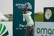 Sami Valimaki (FIN) on the 1st during Round 1 of the Oman Open 2020 at the Al Mouj Golf Club, Muscat, Oman . 27/02/2020<br /> Picture: Golffile | Thos Caffrey<br /> <br /> <br /> All photo usage must carry mandatory copyright credit (© Golffile | Thos Caffrey)