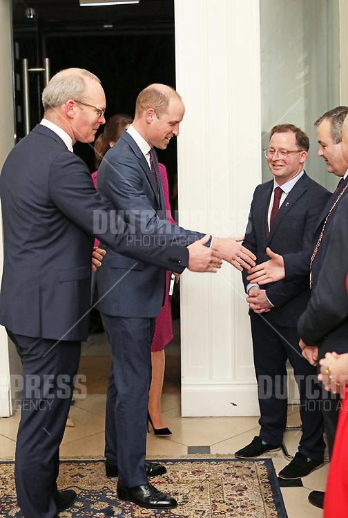 DUBLIN - Prins William, Hertog van Cambridge bij een receptie in Dublin, op de tweede dag van hun drie-daags bezoek aan Ierland.