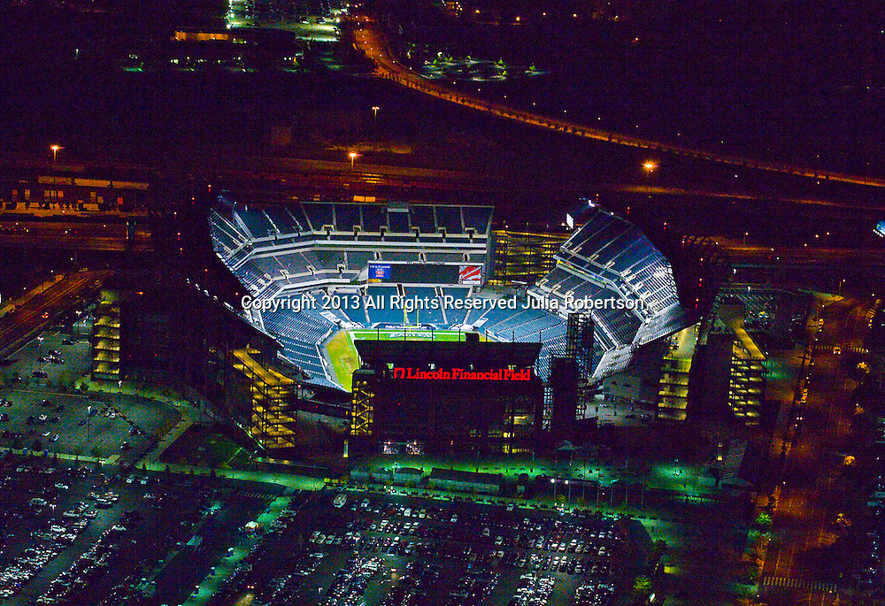 Aerial view of the Philadelphia Eagles at Lincoln Financial Field,
