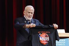 Washington: Buzz Aldrin speaks at the Humans 2 Mars Summit - 9 May 2017