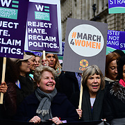 Sandi Toksvig, Bianca Jagger join March4Women 2020, on 8 March 2020, London, UK