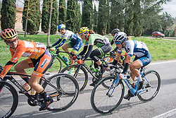 Lotta Lepistö in the front group as the race reaches halfway - 2016 Strade Bianche - Elite Women, a 121km road race from Siena to Piazza del Campo on March 5, 2016 in Tuscany, Italy.