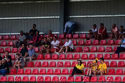 Spectators during football match between NK Aluminij and NK Bravo in 32. Round of Prva liga Telekom Slovenije 2019/20, on July 8, 2020 in Sportni park NK Aluminij Stadion, Kidricevo, Slovenia. Photo by: Milos Vujinovic /Sportida