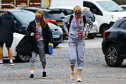 Sophie Baggaley of Bristol City Women and Jemma Purfield of Bristol City Women arrives at Twerton Park prior to kick off - Mandatory by-line: Will Cooper/JMP - 18/10/2020 - FOOTBALL - Twerton Park - Bath, England - Bristol City Women v Birmingham City Women - Barclays FA Women's Super League