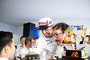 June 10-16, 2019: 24 hours of Le Mans. 8 Fernando Alonso, Toyota Gazoo Racing, TOYOTA TS050 - HYBRID , Rob Luepen, Toyota Team Director