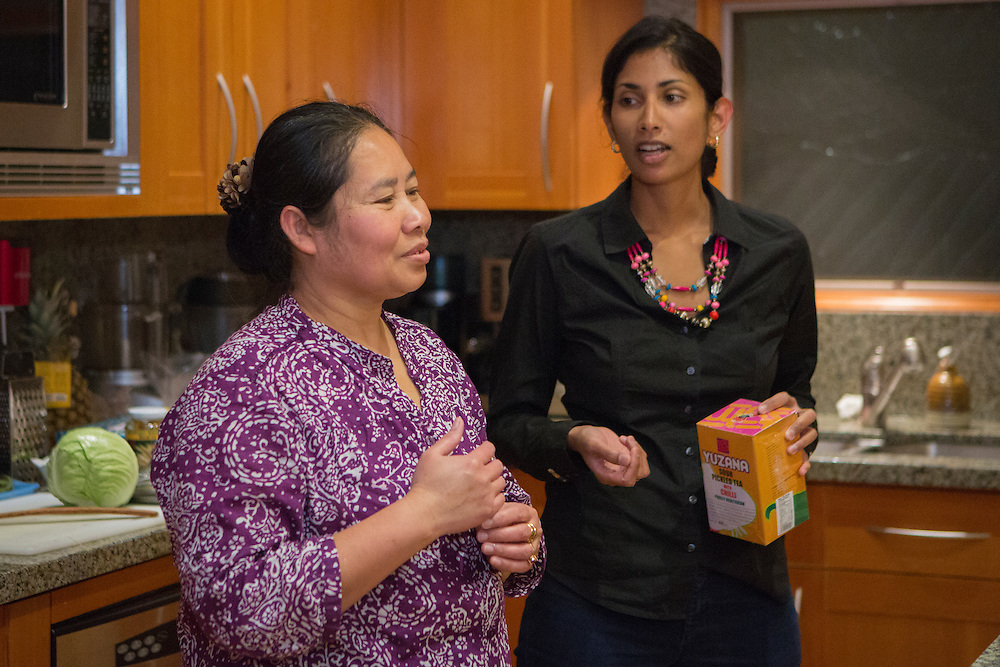 Project Feast Burmese cooking class, Bellevue, Washington