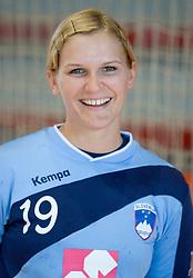 Portrait of Neli Irman of Slovenian Handball Women National Team, on June 3, 2009, in Arena Kodeljevo, Ljubljana, Slovenia. (Photo by Vid Ponikvar / Sportida)