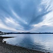 Last light, West Bay, Gourock, Inverclyde, Scotland.