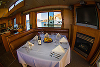 Interior of a 75 foot luxury-class houseboat, Lake Powell, Glen Canyon National Recreation Area, Arizona/Utah border USA