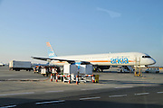 Israel, Ben-Gurion international Airport Arkia Boeing 757 passenger jet