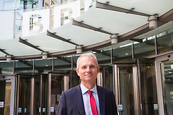 London, July 9th 2017. Lord Chancellor and Secretary of State for Justice David Lidington leaves the BBC's Broadcasting House in London following an appearance on the Andrew Marr Show.