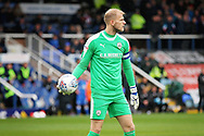 Barnsley goalkeeper Adam Davies (1)  who saved an early penalty  during the EFL Sky Bet League 1 match between Peterborough United and Barnsley at The Abax Stadium, Peterborough, England on 6 October 2018.