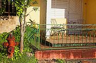 Hydrant and porch in Vinales, Pinar del Rio, Cuba.