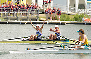 Eton Dorney, Windsor, Great Britain,..2012 London Olympic Regatta, Dorney Lake. Eton Rowing Centre, Berkshire.  Dorney Lake.  ..Final Women's Double Scull, GBR W2X, Bow Anna WATKINS and Katherine GRAINGER..12:17:04  Friday  03/08/2012 [Mandatory Credit: Peter Spurrier/Intersport Images]
