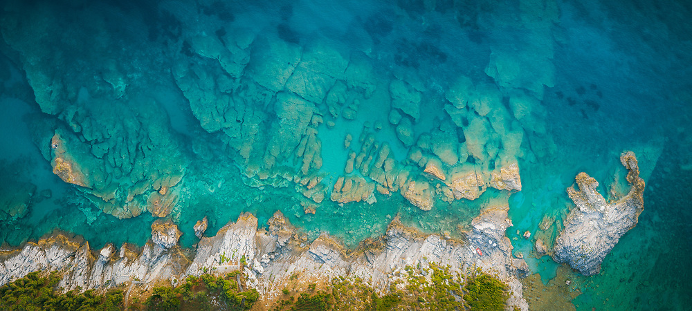Mylopotamos beach under the slopes of mount Pelion, Greece