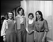 Seafood Cook in Rosslare 07/05/1976.05/07/1976.7th May 1976.Pictured left to right, Helen Flaherty, Vocational School, Fr. Griffin Road, Galway, Marie Prendergast, Vocational School, Loughrea, Co. Galway, Mary Spellman, Marist Convent, Tubercurry, Co. Sligo, Debra Kelly, Convent of Mercy Ballyshannon, Co. Donegal.