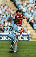 Photo: Mark Stephenson.<br /> Coventry City v Bristol City. Coca Cola Championship. 15/09/2007.Bristol's Bradley Orr wins the ball from Jay Tabb