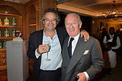 Left to right, MARK HIX and IAN BURTON at a the Fortnum's X Frank private view - an instore exhibition of over 60 works from Frank Cohen's collection at Fortnum & Mason, 181 Piccadilly, London on 12th September 2016.