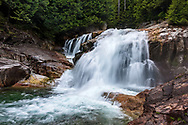 Lower Falls and Gold Creek at Golden Ears Provincial Park, Maple Ridge, British Columbia, Canada.