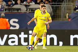 May 15, 2019 - Foxborough, MA, U.S. - FOXBOROUGH, MA - MAY 15: Chelsea FC midfielder Jorginho (5) during the Final Whistle on Hate match between the New England Revolution and Chelsea Football Club on May 15, 2019, at Gillette Stadium in Foxborough, Massachusetts. (Photo by Fred Kfoury III/Icon Sportswire) (Credit Image: © Fred Kfoury Iii/Icon SMI via ZUMA Press)
