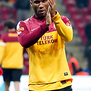 Galatasaray's Tebily Didier Yves Drogba during their Turkish Super League soccer match Galatasaray between Genclerbirligi at the TT Arena at Seyrantepe in Istanbul Turkey on Friday, 08 March 2013. Photo by Aykut AKICI/TURKPIX