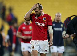 British and Irish Lions' Dan Biggar after the tour match at the Westpac Stadium, Wellington.