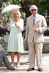 The Prince of Wales and the Duchess of Cornwall visit the John Lennon memorial bench in John Lennon Square in Havana, Cuba, as part of an historic trip which celebrates cultural ties between the UK and the Communist state.