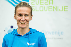 Sonja Roman during press conference when Slovenian athletes and their coaches sign contracts with Athletic federation of Slovenia for year 2016, on February 25, 2016 in AZS, Ljubljana, Slovenia. Photo by Vid Ponikvar / Sportida