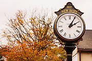 The town clock landmark in center of town,New Hope,Bucks County,Pennsylvania